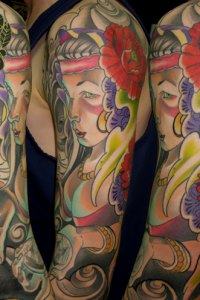 Gypsy Lady Sleeve by Justin Acca modeled by Lucia Mocnay