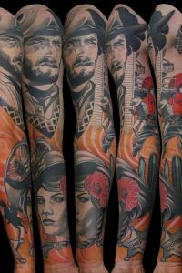 Justin Acca, Sleeve Tattoo