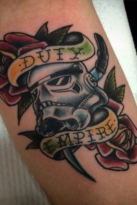 storm trooper tattoo by brendan courts