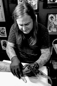 Andrew Timmins, Tattoo Artist, Melbourne